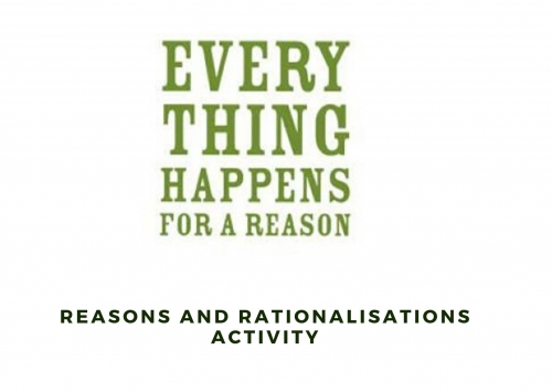 Reasons and Rationalisations Activity