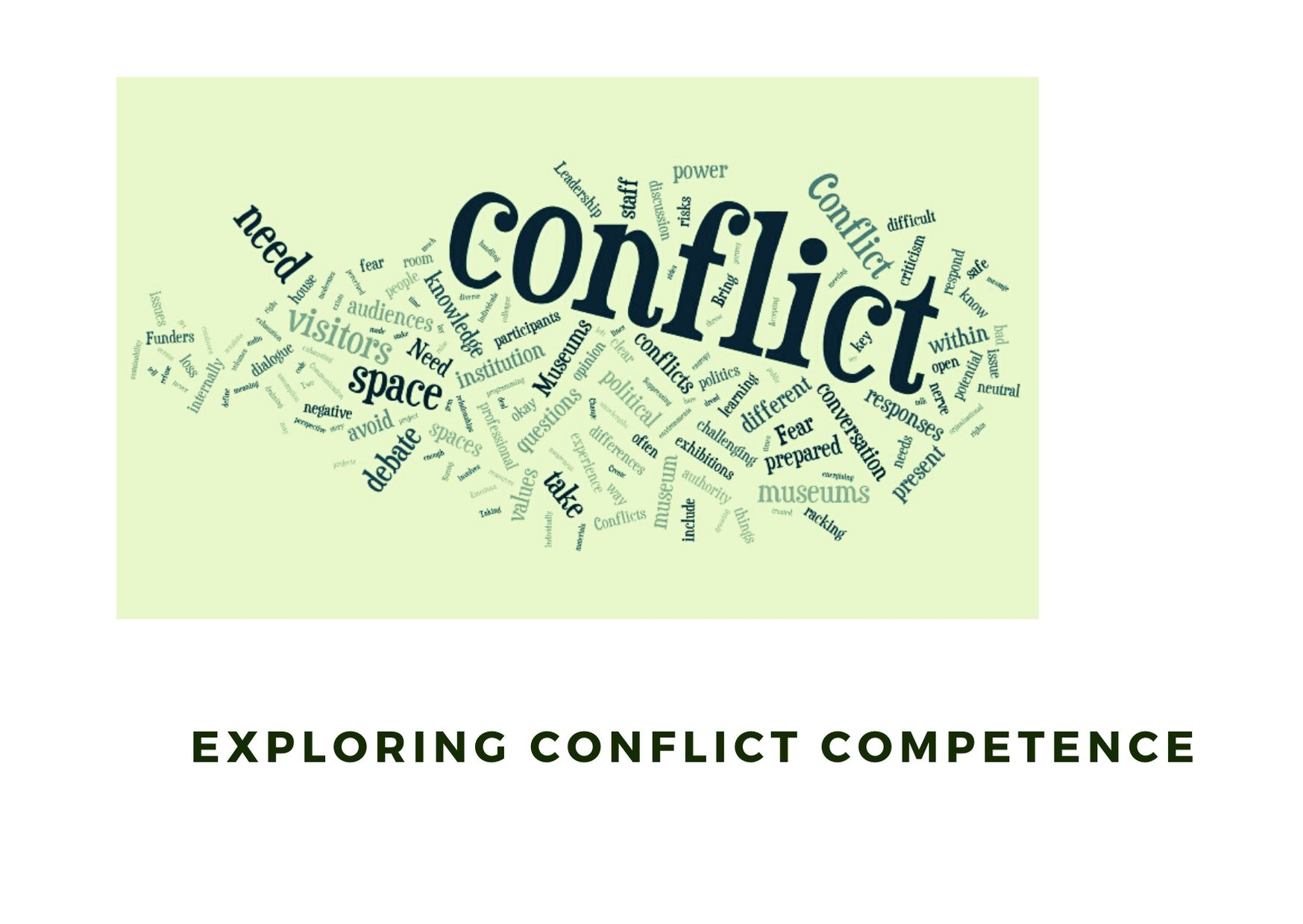 Exploring Conflict Competence